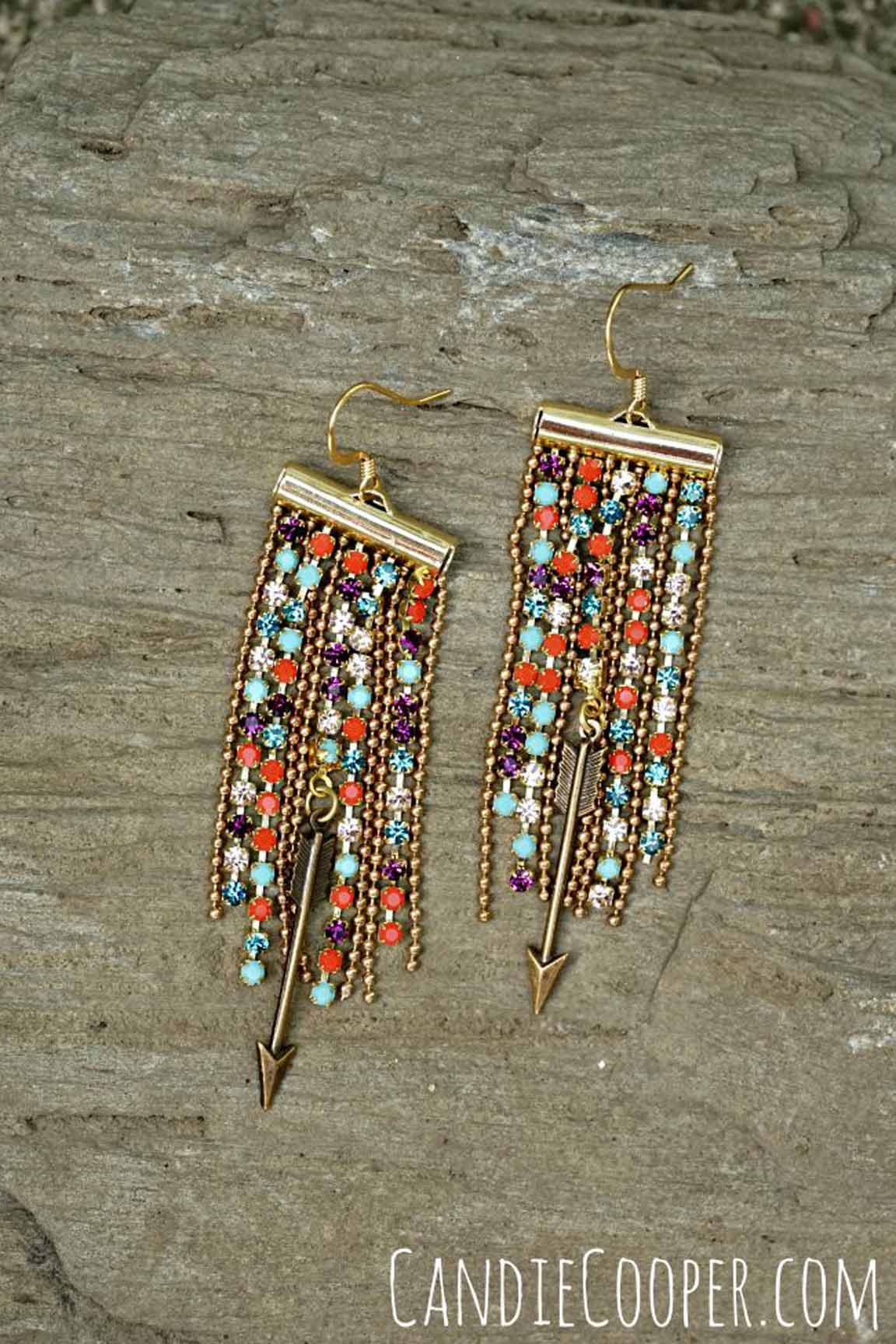 An image of Candie's Follow Your Arrow Crystal Fringe Earrings.